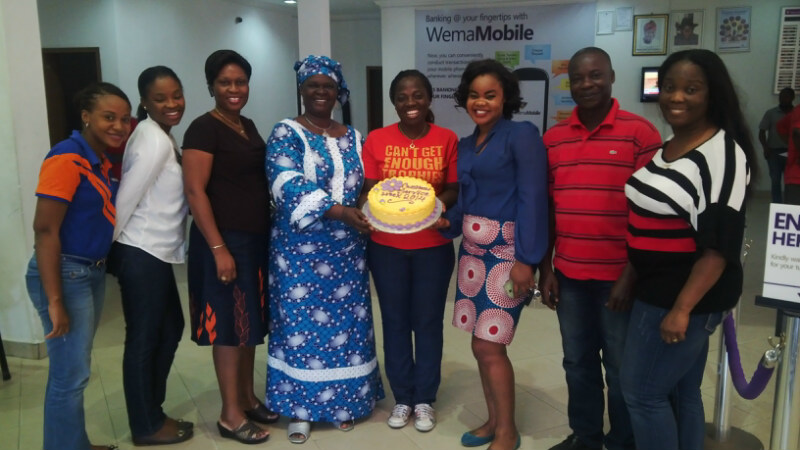 Lekki Branch celebrating with Customers