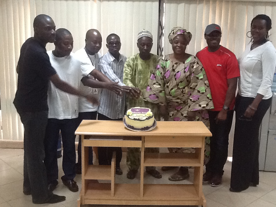 Mokola Branch celebrating with Customers 1