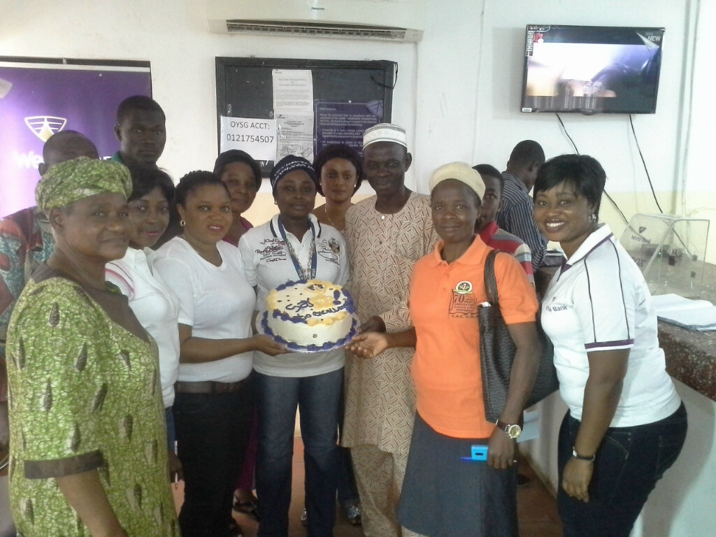 New Gbagi Branch celebrating with Customers 1